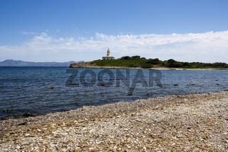 Strandblick Aucanada Mallorca auf Faro De L'ILLA