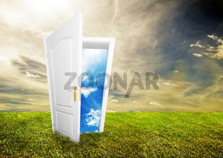 Open door to new life on the field. Hope