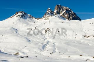 Pyrenees snowed, Formigal, Huesca, Aragon, Spain