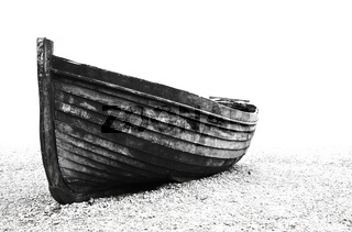 Old fisherman boat on Brighton beach