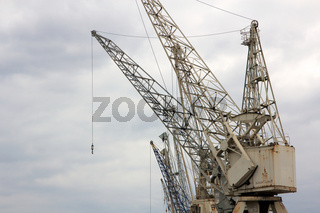 Old Harbor Cranes Landscape
