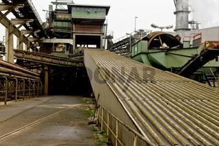 Förderband einer Zuckerfabrik