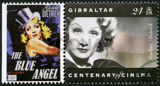 GIBRALTAR - 1995: shows Marlene Dietrich (1901-1992), actress and singer