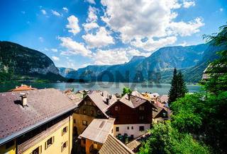 View of Hallstatt. Village in Austria.