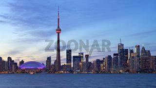 Toronto Skyline bei Sonnenuntergang