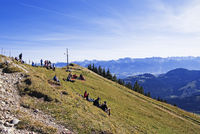 Berggipfel mit Alpen Hauptkamm
