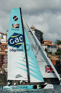 GAC Pindar compete in the Extreme Sailing Series