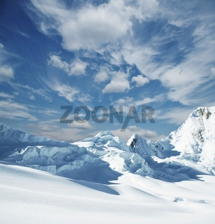 Snowcovered mountain