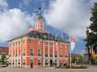Das Rathaus von Templin in der Uckermark