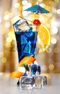 Blue Curacao cocktail