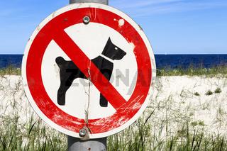 kein Zutritt fuer Hunde