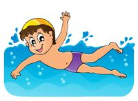 Swimming theme image 3 - picture illustration.