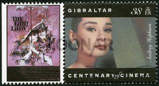 GIBRALTAR - 1995: shows Audrey Hepburn (1929-1993), actress