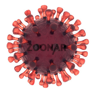Virus or Bacteria Cell isolated on white background