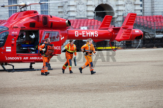 London's Air Ambulance Helicopter team