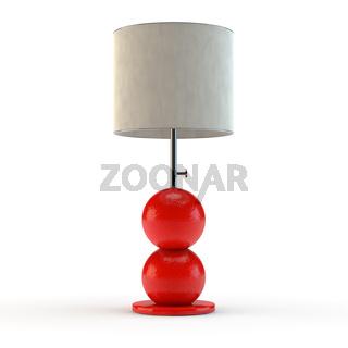 red modern lamp