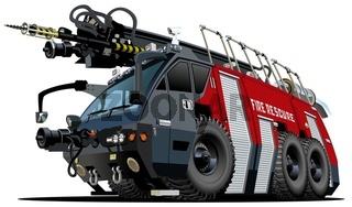 Cartoon firetruck