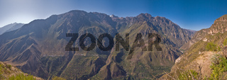 Colca Canyon panorama shot into the valley