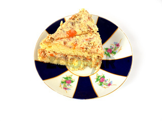 piece of a pie on a plate