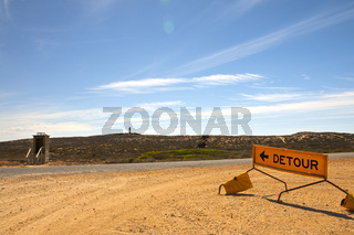Umleitung zum Plumpsklo im Outback von Australien