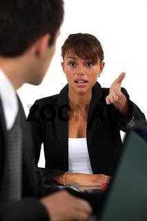 Business partners having heated debate