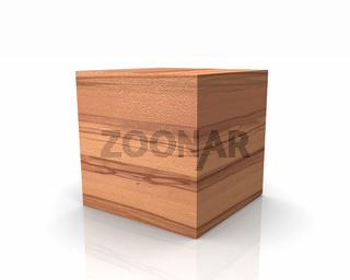 Holzwürfel mit graden Kanten - Buche Kern