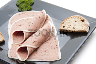 Leber Pastete mit Brot