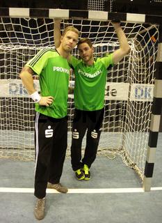 Schwedische Handballtorhüter Johan Sjöstrand,Andreas Palicka 13/14 THW Kiel,Nationalspieler Schweden