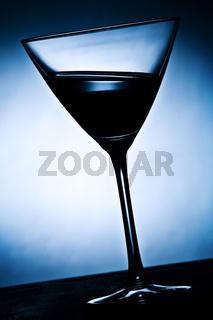 schräges cocktailglas