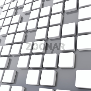 group of cubes of white color on gray background