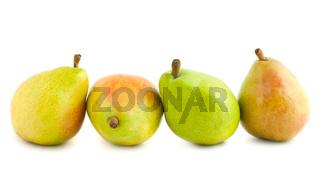 Four ripe pears