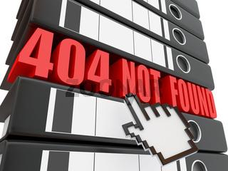 Error 404. File not found. Binders. 3d