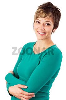 Glückliche junge Frau