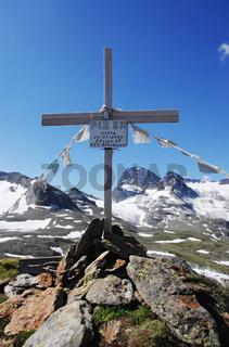 Gipfelkreuz des Piz 6R - Silvretta