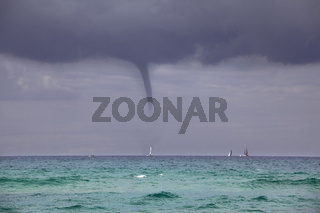 A tornado at sea - off the coast of Israel