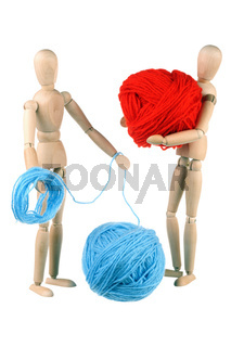 Dummy and woolen balls