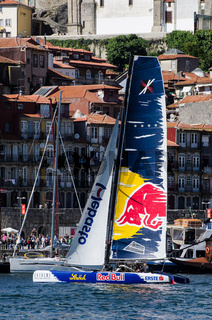 Red Bull Sailing Team compete in the Extreme Sailing Series