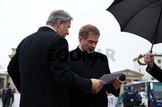 Finnish President Niinistö visits Berlin