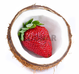 strawberries and coconut