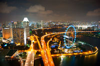 Singapore's night cityscape