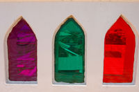 Farbiges Fensterglas in Stone Town