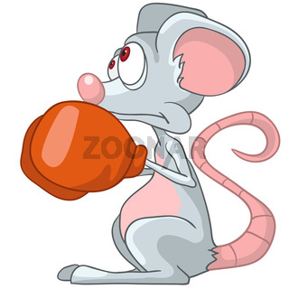 Cartoon Character Mouse Boxer