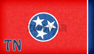 Linen flag of the US state of Tennessee