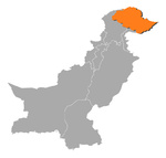 Map of Pakistan, Gilgit-Baltistan highlighted