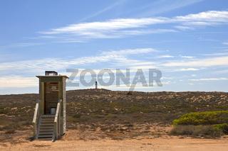 Plumpsklo im Outback von Australien