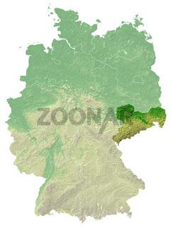 Sachsen Relief karte