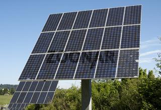 Solarzellen einer Photovoltaikanlage / Polycristalline solar panel moduls