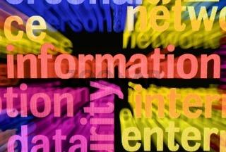Information word cloud
