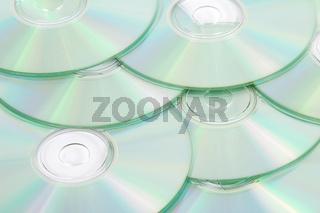 Viele durcheinander liegende CD Rohlinge