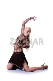 Female dancer dancing traditional dances